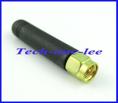 5 Piece/lot 433MHZ Rubber 2-3dbi Gains Antenna With SMA Male Plug Straight Connector
