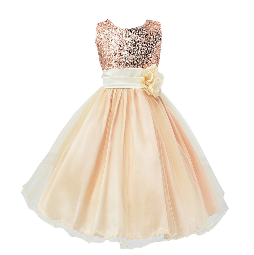 Deluxe Summer Style Gold Sequined Tulle Tutu Girl Dress Baby Girls Party Dress Sequins Wedding clothes tetris party deluxe