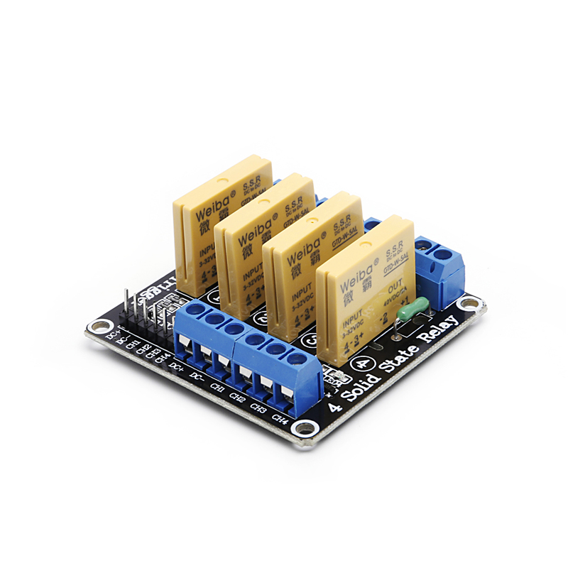 цена на 4 Channel SSR Solid State Relay High-low Trigger 3-32V 5A For Arduino Uno R3 New #Aug.26