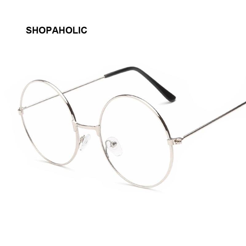 Round Spectacle Glasses Frame Sunglasses Women Vintage Metal Sun Glasses Female Frames Optical Transparent