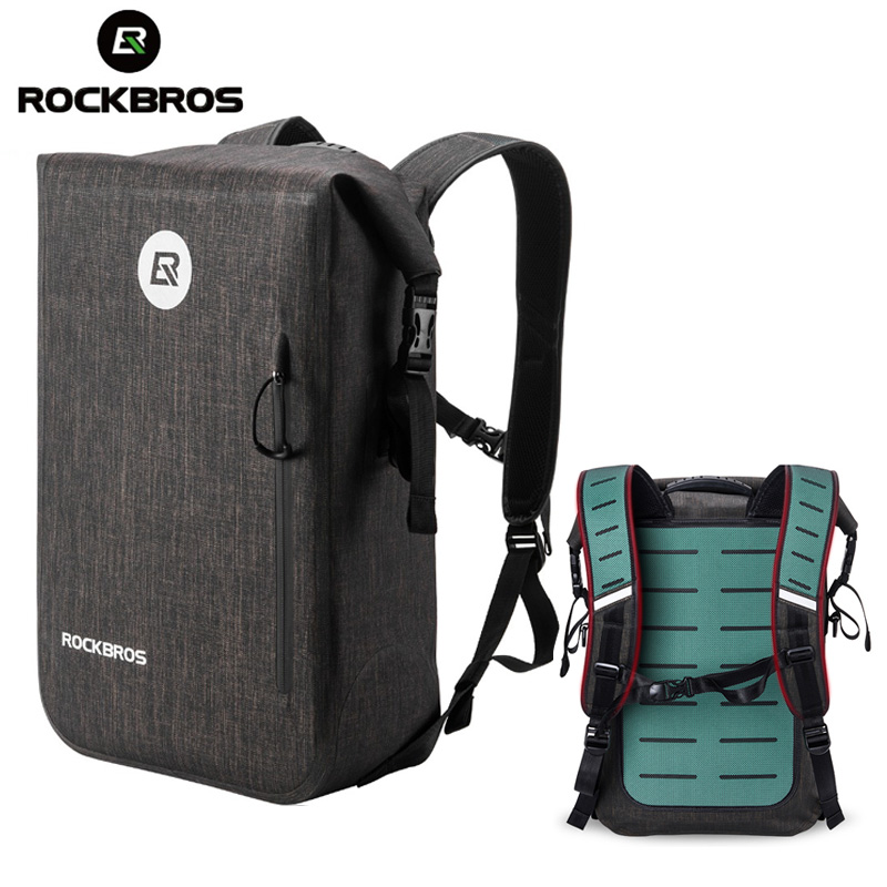 ROCKBROS Bicycle Bag Waterproof Outdoor Sports Bag Travel Hiking Camping Bike Backpack Casual School Backpack Fishing Gym Bag-in Bicycle Bags & Panniers from Sports & Entertainment    1