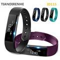 Nueva id115 pulsera inteligente rastreador de ejercicios paso contador monitor de actividad band pulsera de reloj de alarma de vibración para xiaomi pk id107