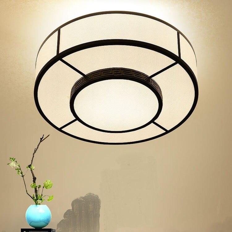 Chinese style roun ceiling lamp living room lamp atmosphere circular book tenant room lamp simple LED bedroom lamps ZA ZL483