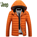 AFS JEEP New Arrival 2016 Casual Winter Men's Down Jackets Coats Men's Fashion Thick Warm Hooded  Jacket Parkas for Men 150