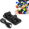 6 Silicone Analog Thumbsticks Joystick Caps Cover+LED Dual Controller Charger Dock Station Stand Charging For Playstation 4 PS4