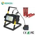Recarregável Holofotes 36 LED Flood Lâmpada Luz para Acampamento Ao Ar Livre Luz de Trabalho com Carregador AC e 4 Baterias * 18650