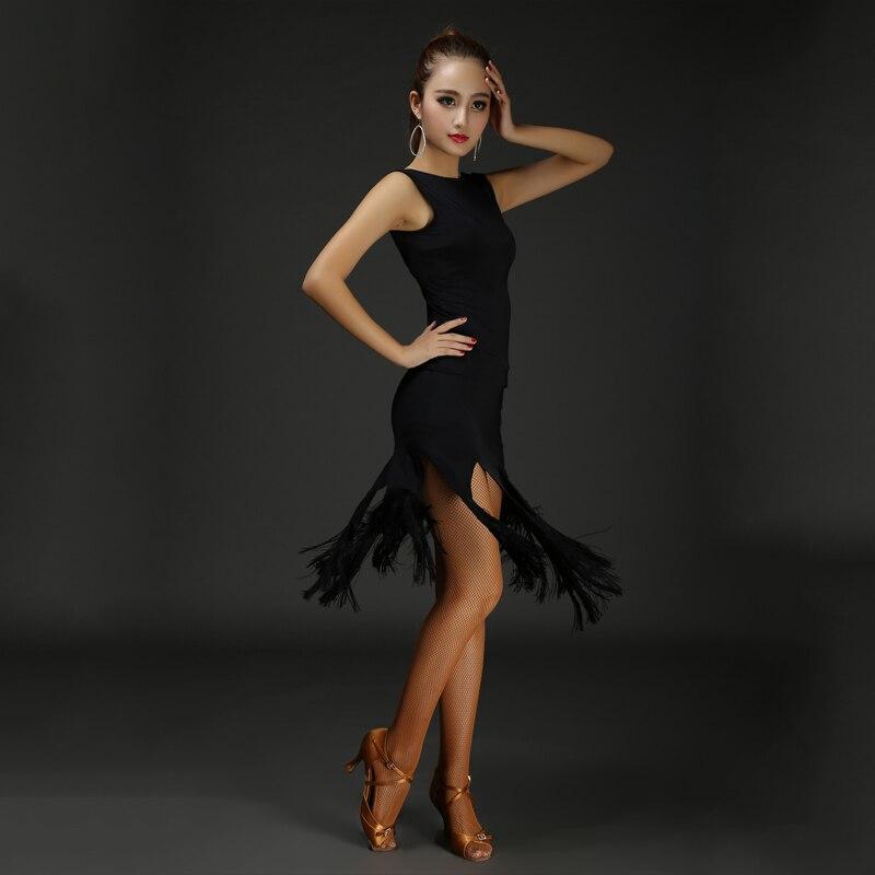 Hcdance New Brand 4 Colors Sleeveless Sexy Women Tango Dance Dress and Latin Dance Dress Bodysuit Dance Cloth for Women A127224