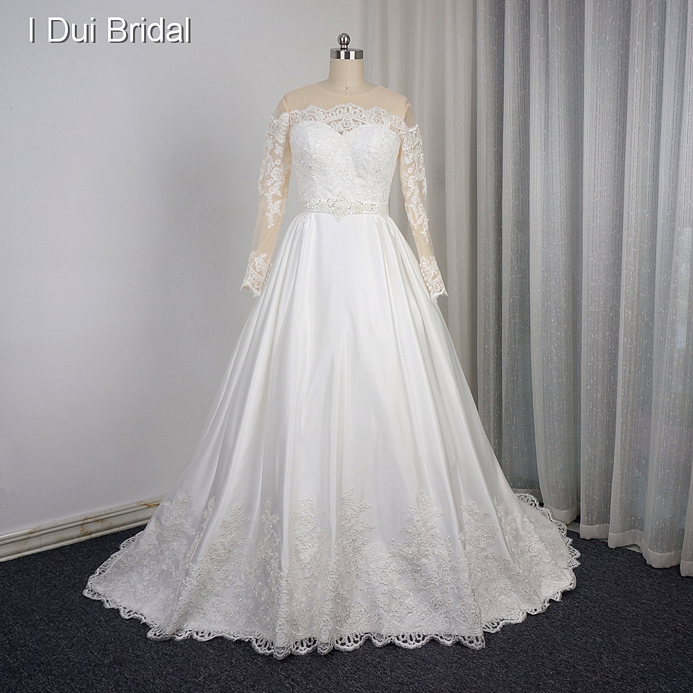 Lace Wedding Gown Designer: Long Sleeve Quality Wedding Dress Ball Gown Designer Style