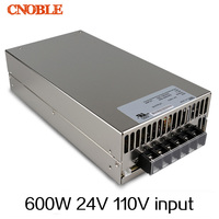 600W 24V 25A 110V INPUT Single Output Switching power supply for LED Strip light AC to DC