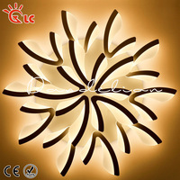 Creative led Ceiling Lights Remote ceiling lamps for bedroom Dimmer AC220V acrylic aluminum Modern light fixture