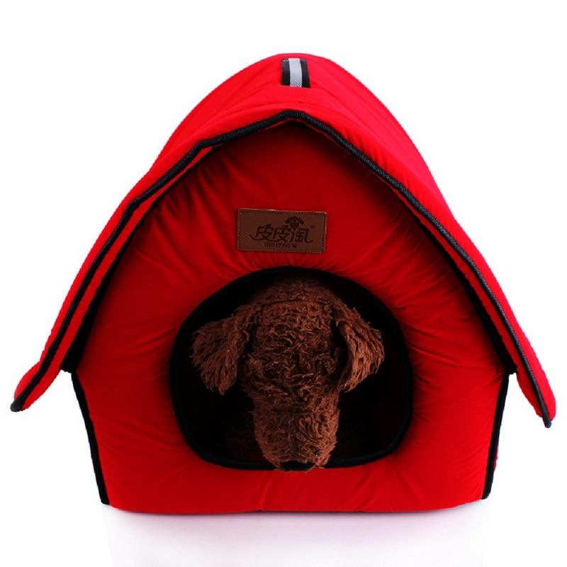 cheap pet furniture. 2016 New Flocking Cloth Pet Bed Kennel Cute Bone Dog House Waterloo Red Blue Cheap Furniture