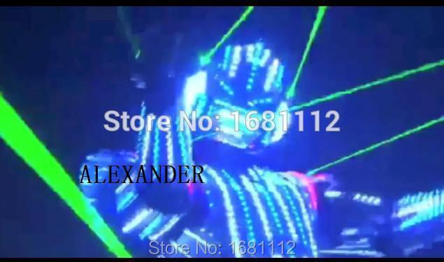 2018new Costume de LED/vêtements de LED/costumes légers/costumes de Robot de LED/costume lumineux/trajes de LED