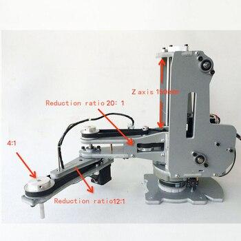 Numerical control mechanical armHarmonic reducerStepper motorFour shaft palletizing robot manipulator Числовое программное управление