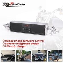 Evrensel Motosiklet Ses Su Geçirmez Motosiklet bluetooth MP3 USB FM Hoparlör Ses Sistemi Radyo Stereo Hoparlör