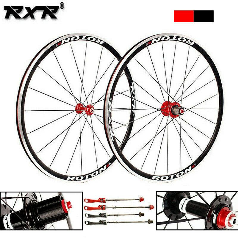 RXR 7 11 Speed Road Bike 700C wheelset Aluminum alloy Wheel set Front Rear Clincher Aluminum Alloy QR Wheel set Rims