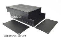 1 pcs caixa De Alumínio de 105*55-110 MM/rede de gabinete/amplificador de Potência de alumínio shell