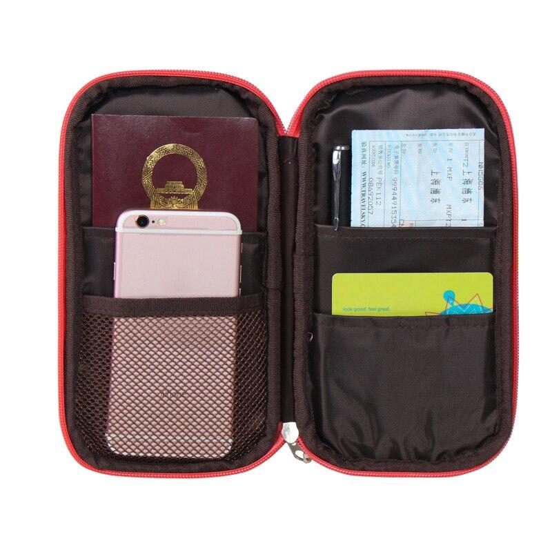 HAOCHU Travel Passport ID Credit Card Cover Holder Storage Bag Pouch Women Men Cash Wallet Document Organizer Bright Color