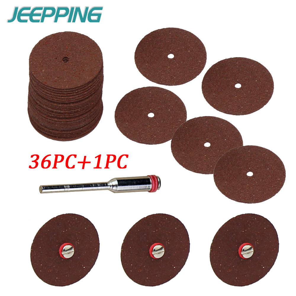36pc Abrasives Cutting Disc Circular Saw Blade Grinding Wheel For Dremel Rotary Tool Abrasive Sanding Disc Cutting Wood Tools