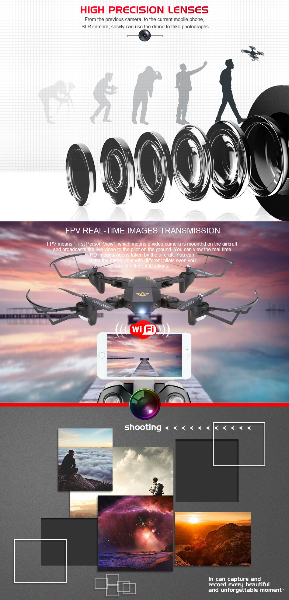 VISUO XS809W XS809HW Mini Foldable Selfie Drone with Wifi FPV 0.3MP or 2MP Camera Altitude Hold Quadcopter Vs JJRC H37 RC Dron