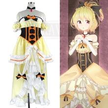 Re: cero a partir de vida en otro mundo real princesa sintió cosplay amarillo palabra de longitud princesa dress de halloween disfraces