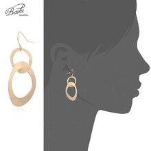 Badu Stainless Steel Dangle Earrings for Women Hollowing Geometric Drop Earring Statement Punk Jewelry Wholesale