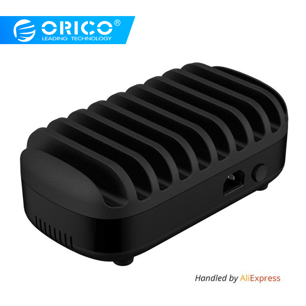 ORICO 10 Ports USB Charger Station Dock with Holder 120W 5V2.4A * 10 USB Charging for Smart Phone Tablet PC Αίτηση για οικιακό κοινό