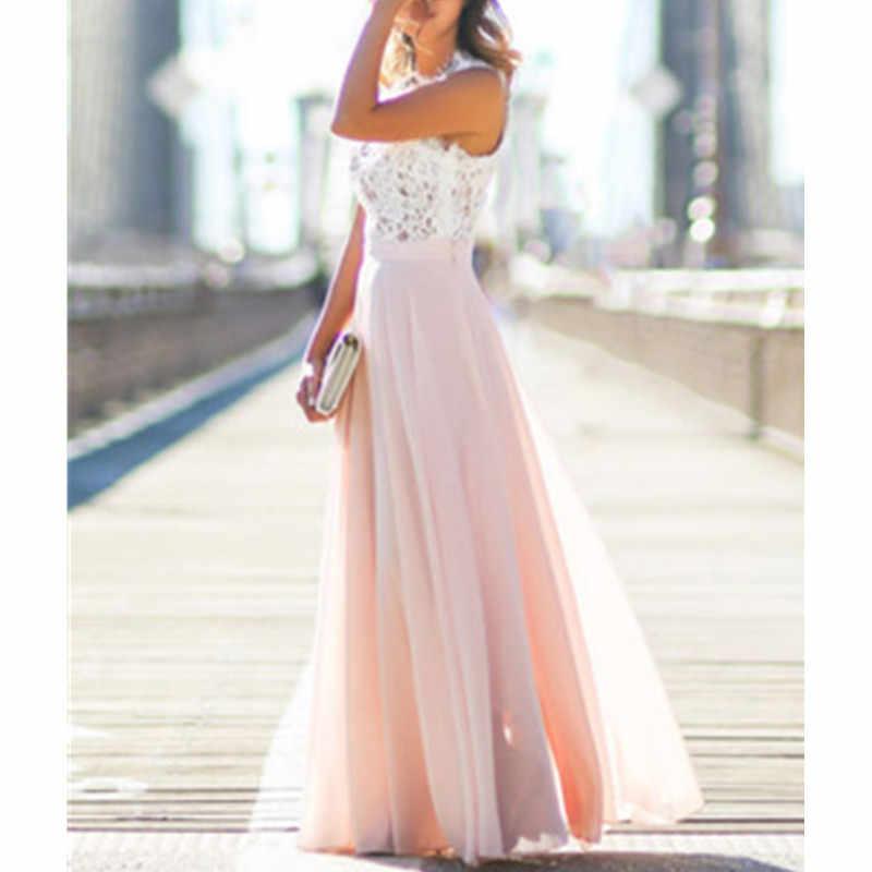 2019 летнее новое розовое платье свободного кроя без рукавов для женщин вечерние платья оптом F3