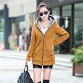 2016 Зимняя Куртка Женщин Мода Карманы Плюс Размер Пальто D846
