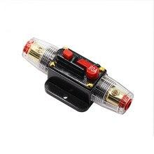 Автомобильный аудио держатель предохранителя автомобильный аудио 80A автоматический выключатель ручной сброс Agu Держатель предохранителя Прямая