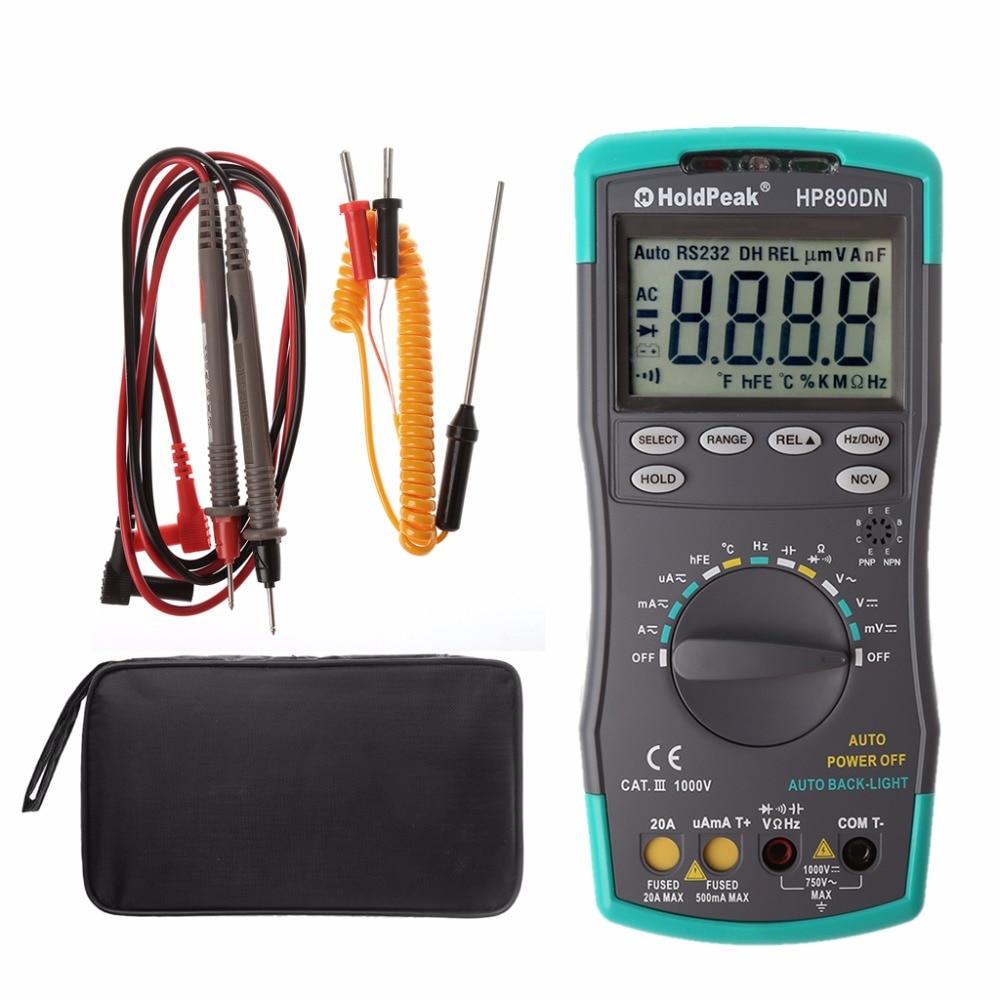 Digital Multimeter Meter Amp/Ohm/Volt Tester with Backlight LCD Display Tool D28