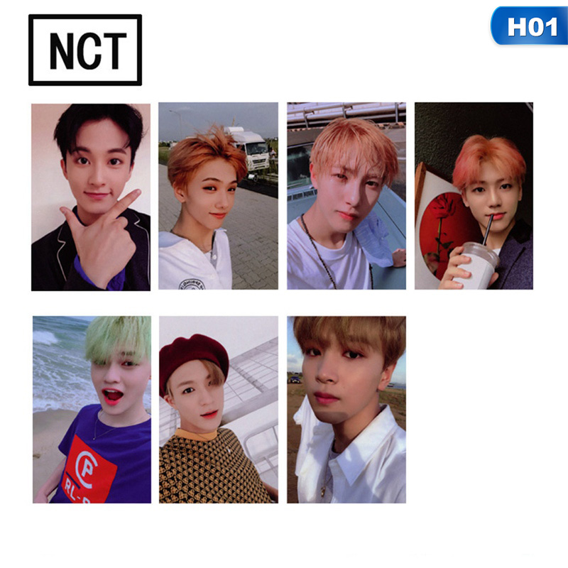Dutiful Kpop Nct U 127 2018 Empathy Album Taeyong Mark Self Made Autograph Photocard Paper Cards Poster 7pcs/set Buy One Give One Stationery Set