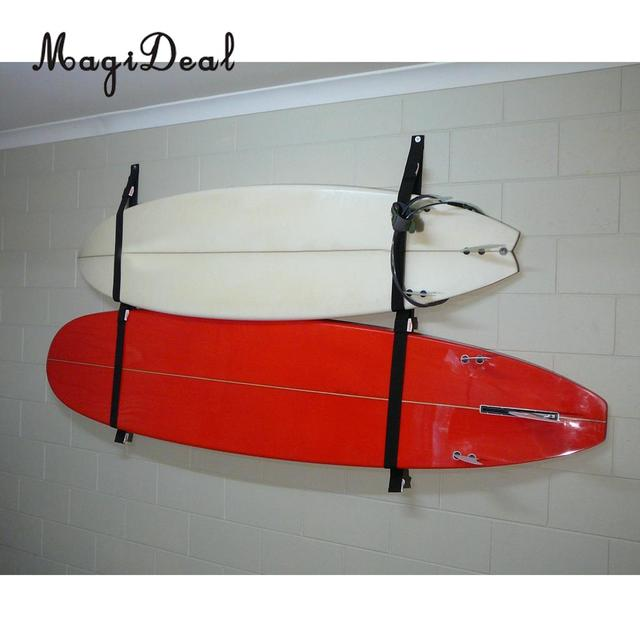 MagiDeal Polyester Surfboard Longboard Sling Wall Storage Strap / Rack  System SUP Garage Hanger For Surfing