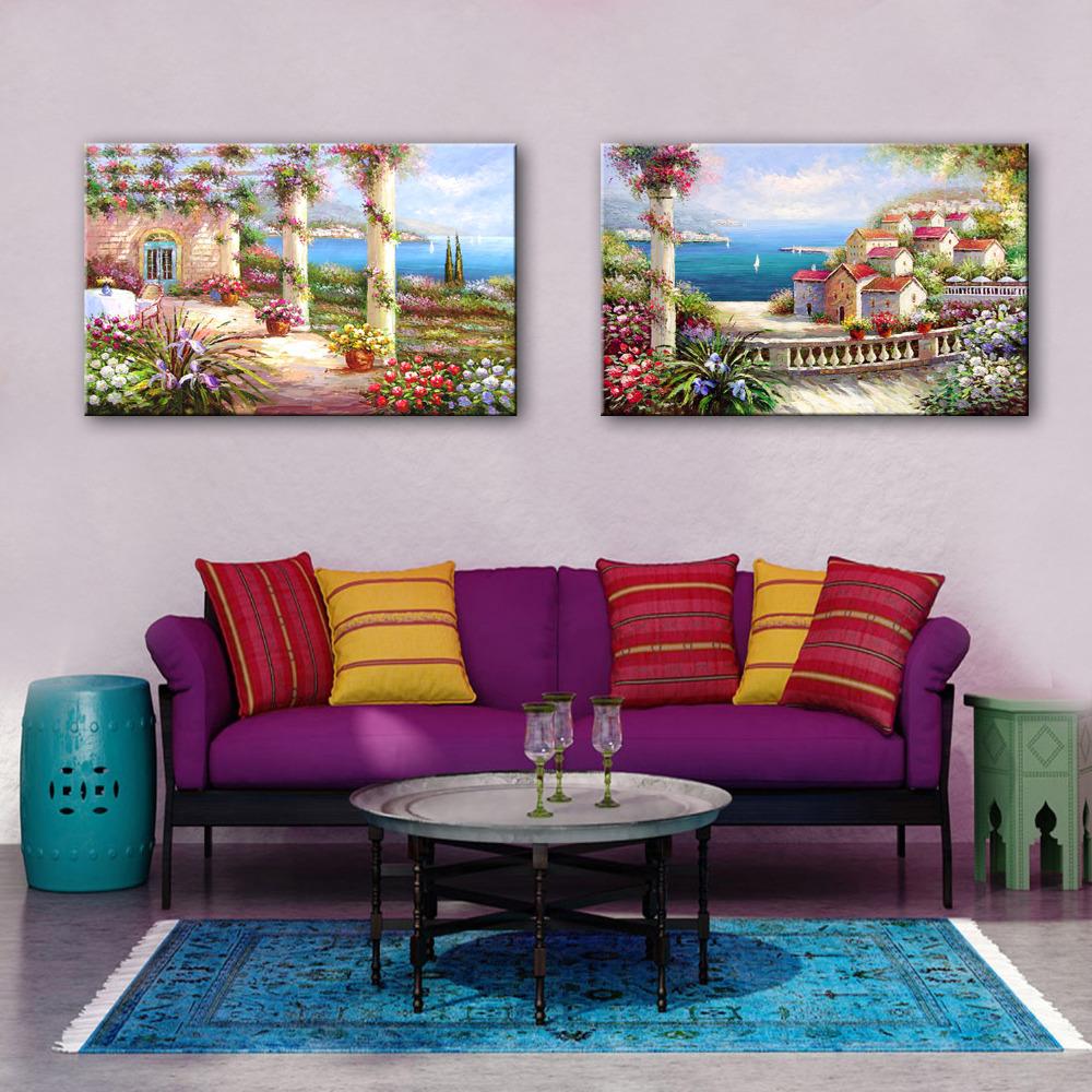 Kumsal duvar boyas rengi ile modern ve k ev dekorasyonu - Mini Boyutu Cretsiz Kargo El Boyal Ya L Boya Ev By Deniz Dekorasyon Boyama Bir Adet Ev Dekor Modern Duvar Bask Lar