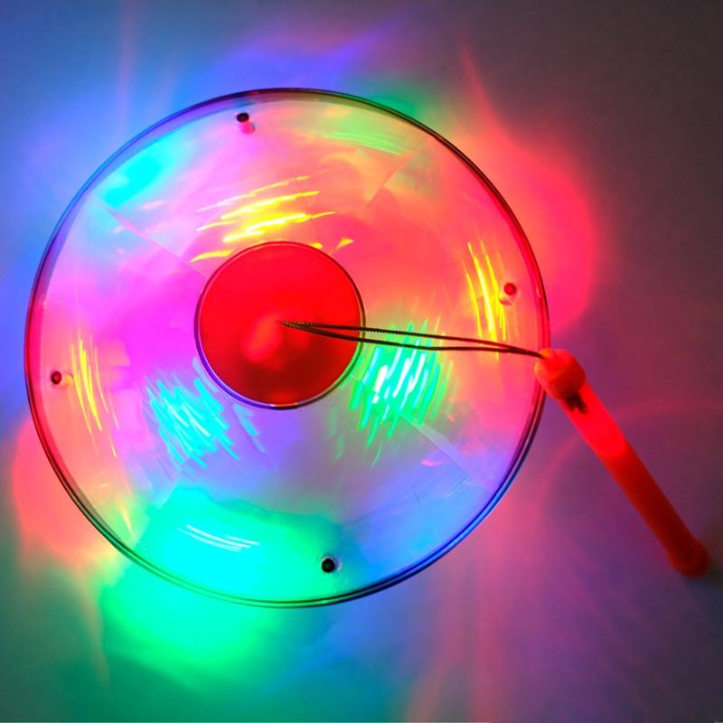 2019 Nouveau Électrique Lueur Lumineux Jouets Enfants Musique Enfants Halloween Jouet Universel Soucoupe Volante Disco Sons de la Lumière Lanterne Lampe - 3