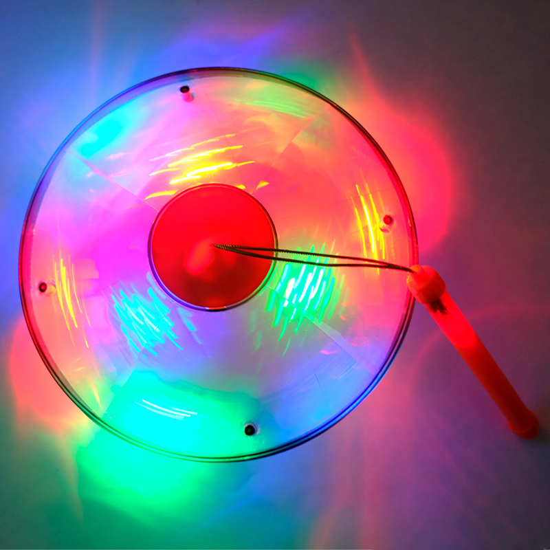 2019 nuevo resplandor eléctrico juguetes luminosos niños música niños Halloween juguete Universal Flying Saucer Disco suena lámpara linterna - 3