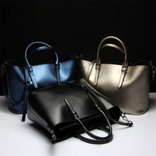 Misanwiney Genuine Leather Bags Ladies Real Leather Bags Women Handbags Casual Tote High Quality Large Capacity