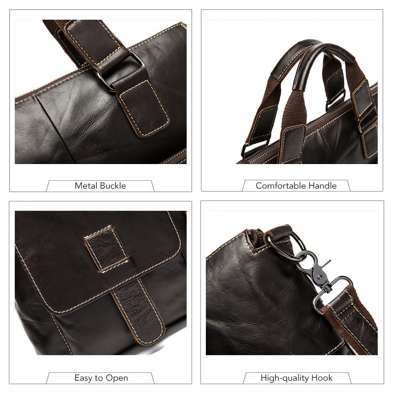masculino maleta homem couro maleta Size : L38cm*h29cm*w8cm