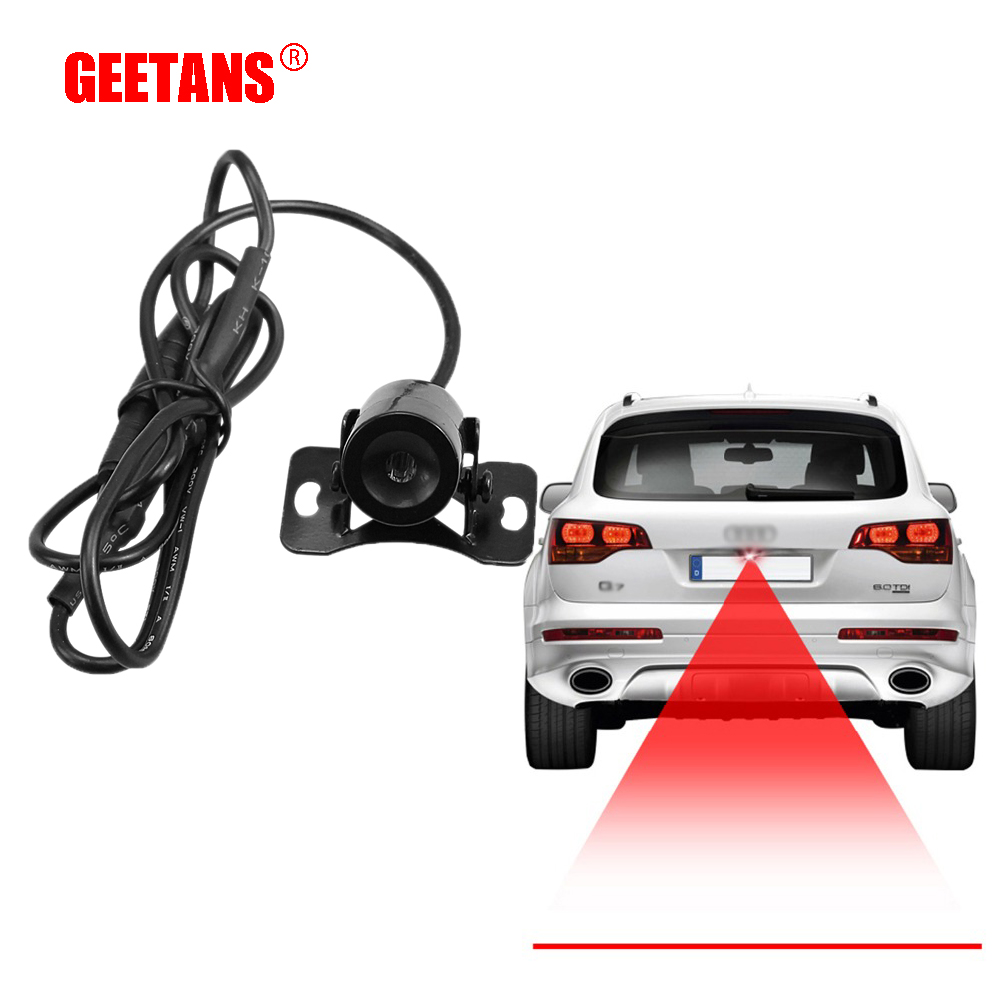 GEETANS Straight Line Anti Collision Car Laser Tail Fog Light Auto Reverse Light Parking Light Brake Bulb Plate Lamp Wire AA стоимость