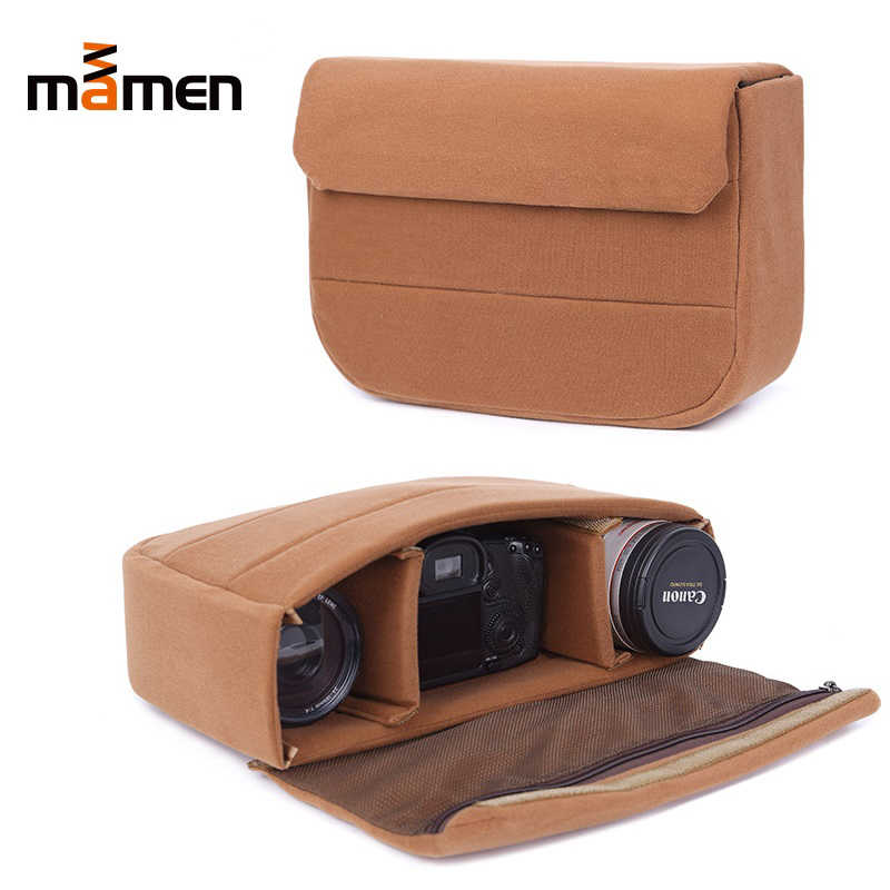 Mamen 33.5*8*21.5 cm Camera Bag Padded Shockproof Protective Bag Liner Camera Lens&SLR DSLR&Flash Bag Large Space