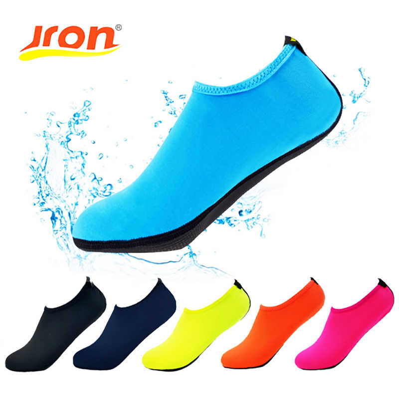 684c324293df Jron Summer Men Slipony Water Shoes Sandalias Slip On Slippers for Beach  Waterpark Sandals Aqua Chaussure