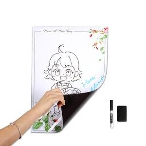 Image 4 - A3 magnetyczne naklejki na lodówkę tablica wymienna wymaż Graffiti pisanie Plan pracy do zrobienia lista Menu wiadomość z przypomnieniem notatka