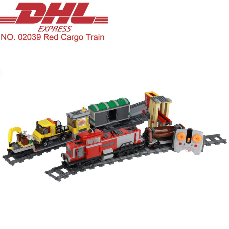 2018 New Lepin 02039 898Pcs Technic Red Cargo Train RC Train Model Building Kits Blocks Bricks Toys For Children Compatible 3677