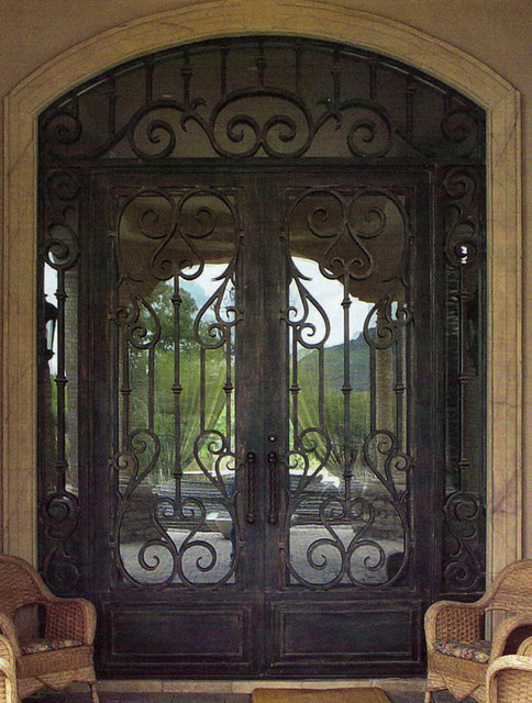 Forged Wrought Iron Door Double Steel Security Door TCD 0374