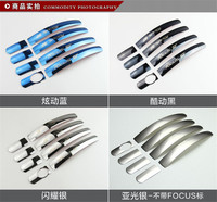 Car Styling Accesories For Ford Focus 2005 2015 classic Stainless Steel Door handle Protective covering Cover Trim Car covers