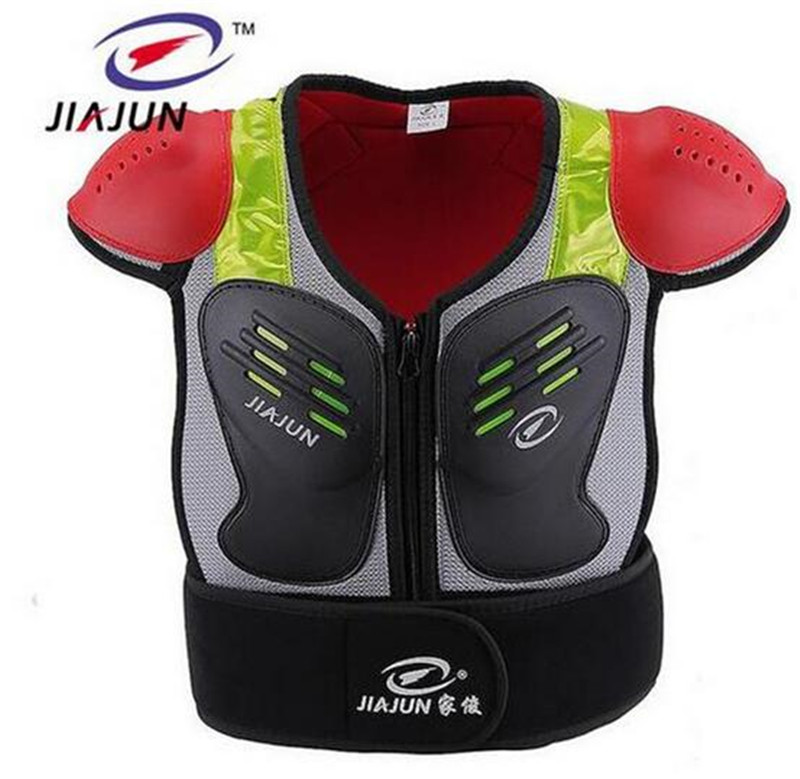JIAJUN Kids Ski Motorcross Vest Chest Protective Gear Off-Road Racing Body Waistcoat Child Motorcycle Riding Protection