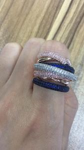 Image 5 - GODKI znane marki luksusowe krzyż geometria Cubic Zironium zaręczyny dubaj Unisex pierścionki biżuteria dla nowożeńców palec serdeczny