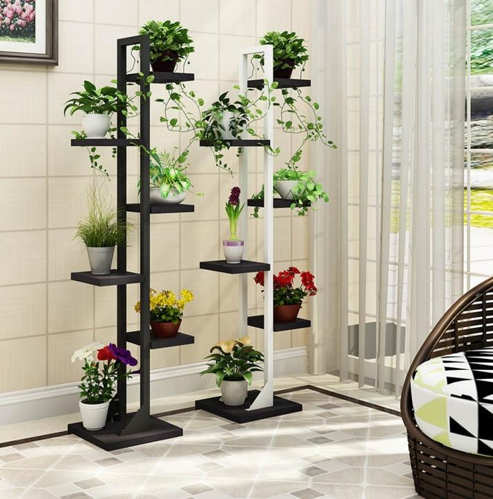 Multi-functional 6 layers Decorative Balcony Outdoor Shelves Balcony Stand Flower Shelf Plant Shelves Rack стоимость