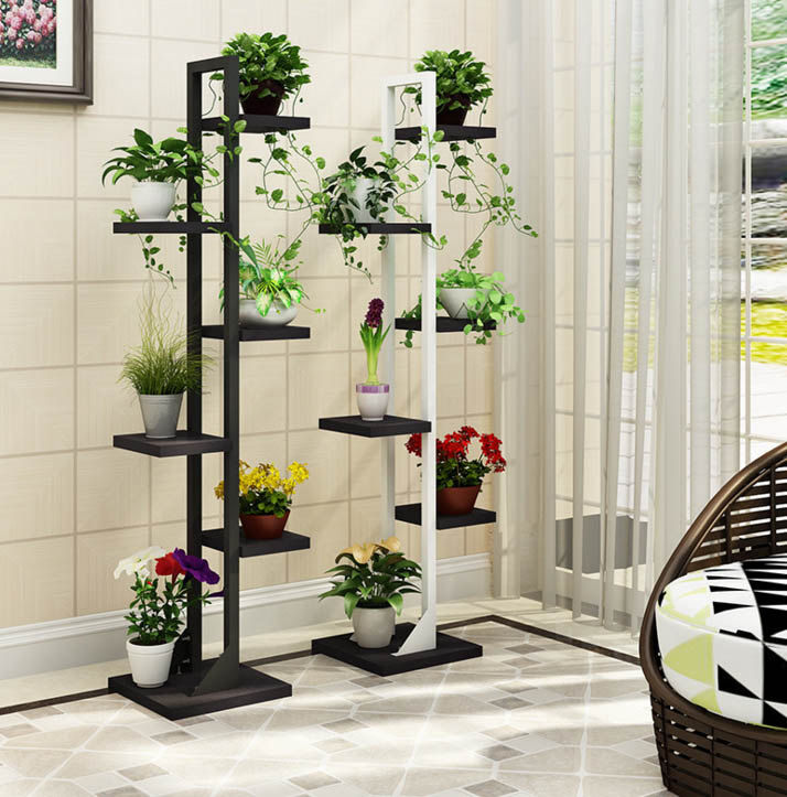 Multi functional 6 layers Decorative Balcony Outdoor Shelves Balcony Stand Flower Shelf Plant Shelves Rack