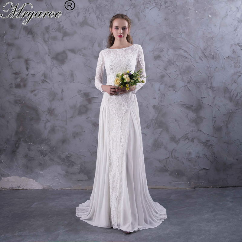 Gallery Bohemian Wedding Dresses: Aliexpress.com : Buy Mryarce Exquisite Lace Long Sleeve