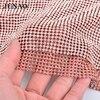 JUNAO 45 120cm Gold Rose Aluminum Mesh Glass Rhinestones Trim Metal Strass Applique Sew On Stones